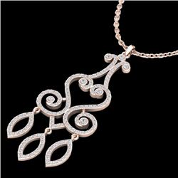 Natural 1.60 CTW Diamond Certified Micro Pave Designer Necklace 14K Rose Gold - 22420-REF#-111A2X