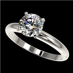 1.50 CTW Certified H-I Quality Genuine Diamond Solitaire Engagement Ring 10K White Gold - 32922-REF#