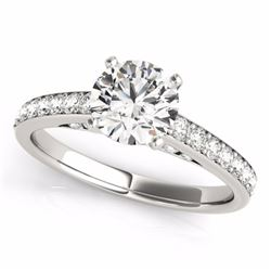 1.50 CTW Certified Fancy Blue Genuine Diamond Solitaire Bridal Ring 10K White Gold - 34867-REF#112R3