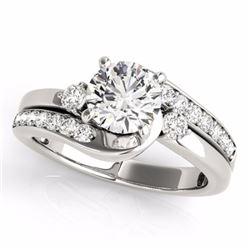 2 CTW Certified G-I Genuine Diamond Bypass Solitaire Bridal Ring 10K White Gold - 35101-REF#326R5K