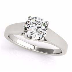 1.50 CTW Certified Fancy Blue Genuine Diamond Bridal Solitaire Ring 10K White Gold - 35539-REF#154H8