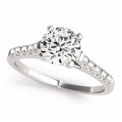 1.20 CTW Certified Fancy Blue Genuine Diamond Solitaire Bridal Ring 10K White Gold - 34975-REF#94Y2X