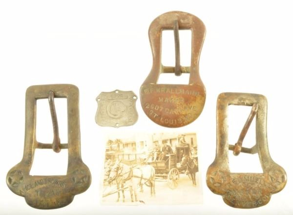 3 Tug Buckles Alice & Brownsville Texas Stage Line