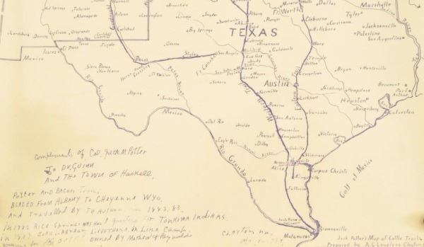 The Great Texas Cattle Trail Guide Book & Map 1875 on cattle trail history, cattle trail jobs, cattle drive maps, cattle trail clip art, cattle trail names,