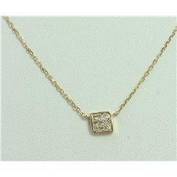 14K YELLOW GOLD PENDANT WITH CHAIN 1.92g/Diamond 0.09ct