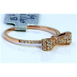 14K ROSE GOLD RING 1.80GRAM  DIAMOND 0.26CT