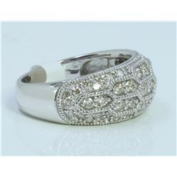 14K WHITE GOLD RING 6.75 GRAM DIAMOND 0.81CT