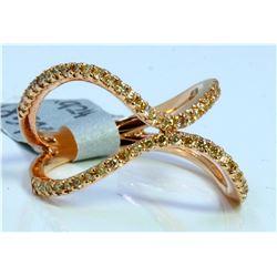 14K ROSE GOLD RING 4.18GRAM DIAMOND 0.59CT