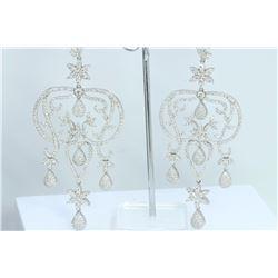 Hand Made  Chandelier Earring 14K WHITE GOLD EARRING  41.43GRAM