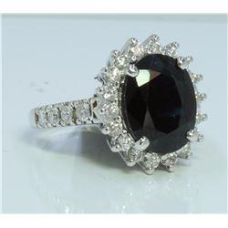 14K:5.5g/Diamond:0.89ct/Sapphire:4.9ct