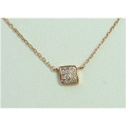 14K ROSE GOLD PENDANT WITH CHAIN 1.91g/Diamond 0.09ct