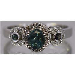 Alexandrite  1.11 ctw Diamond Ring 14KW