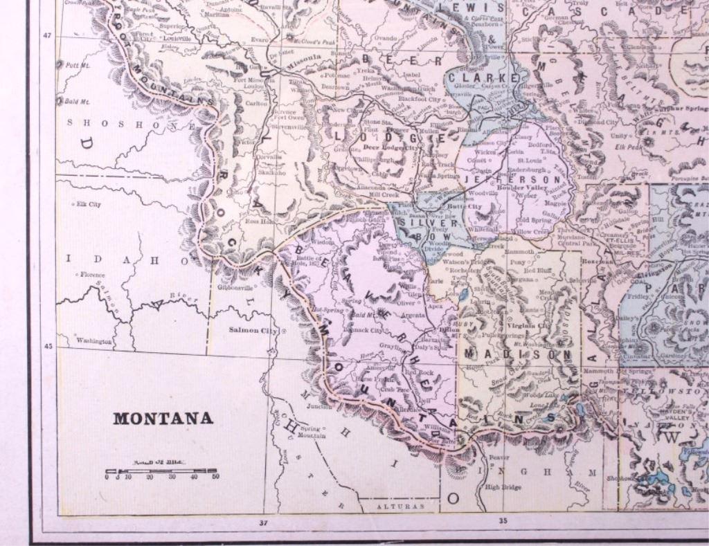 Late 1800\'s Maps Of Montana
