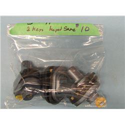 Lot 3 Trigger Locks with 2 keys - Keyed aliki