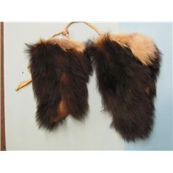 SET OF BEAR SKIN MITTS