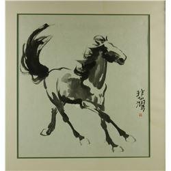 Watercolor Horse With Frame Xu Beihong 1895-1953
