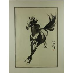 Watercolor Horse w/ Frame Xu Beihong 1895-1953