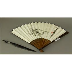 2 Pc Fan Qi Baishi 1864-1957 & Wooden Knife