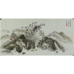 Chinese WC Landscape Painting Luo Pufu