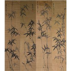 Four Bamboo Scrolls Signed Zheng Xie 1693-1765