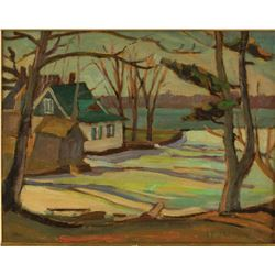 A.Y. Jackson Oil on Panel Canada 1882-1974