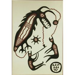 Norval Morrisseau Acrylic on Paper Canad1932-2007
