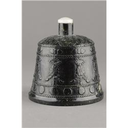 Chinese Spinach Green Jade Ceremonial Bell