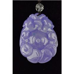 Chinese Carved Lavender Jadeite Pendant