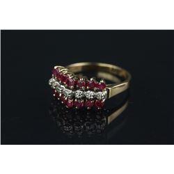 10K Gold Ruby & Diamond Ring CRV $900