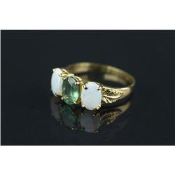 10K Gold Alexandrite & Opal Ring CRV $5100