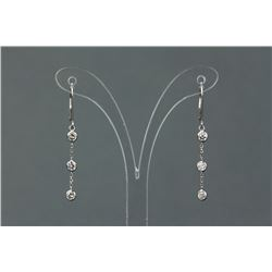 14K Gold Diamond Drop Earrings CRV $2917