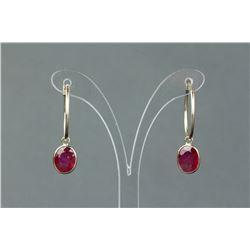 14K Gold Ruby Hoop Earrings CRV $3311