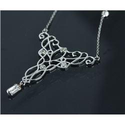 14K Gold Diamond Necklace CRV $4000