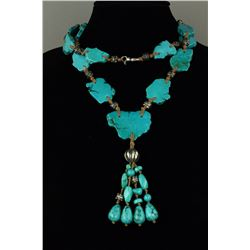 Chinese Turquoise w/ Sliver Necklace