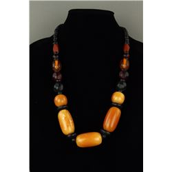 Chinese Amber With Variety Stone Necklace