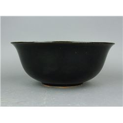 Black Ground Porcelain Bowl Four Characters MK