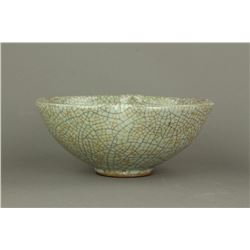 Song Yuan Type Geyao Lobed Porcelain Bowl