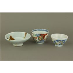 3 Pieces Japanese Porcelain Bowls