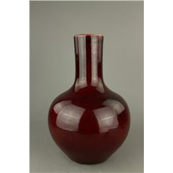 Copper Red Large Porcelain Vase Yongzheng MK