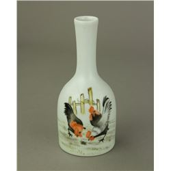 Small Chicken Porcelain Vase Yongzheng MK