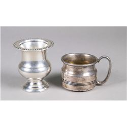 Two Pieces English Silver Tea Ware