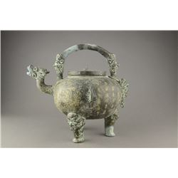 Chinese Archaic Bronze Waterpot with Three Legs
