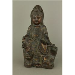 16th Century Chinese Ming Bronze Guanyin Figure