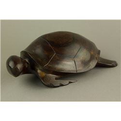 Chinese Huanghuali Carved Turtle