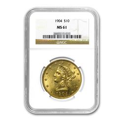1904 $10 Liberty Gold Eagle NGC MS61