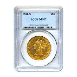 1881-S $10 Liberty Gold Eagle PCGS MS61