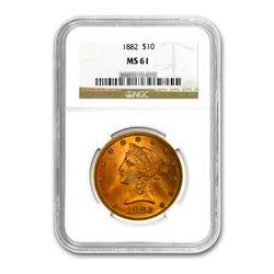 1882 $10 Liberty Gold Eagle NGC MS61