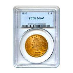1882 $10 Liberty Gold Eagle PCGS MS62
