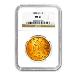1882-S $10 Liberty Gold Eagle NGC MS61