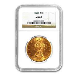 1883 $10 Liberty Gold Eagle NGC MS61